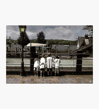 Four Boys at Canoby Park Photographic Print
