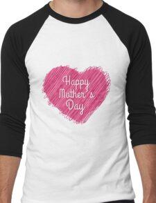 Happy Mother's Day heart Men's Baseball ¾ T-Shirt