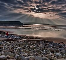 Lahinch Beach Sunset County Clare Ireland by upthebanner