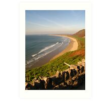 Rhossili Beach on the Gower Peninsula, Swansea Art Print
