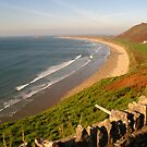 Rhossili Beach on the Gower Peninsula, Swansea by Bimal Tailor