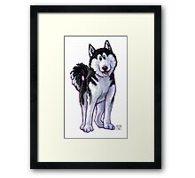 Animal Parade Husky Framed Print