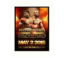 Floyd Mayweather VS Manny Pacquiao May 2nd 2015 shirt, poster and more Art Print