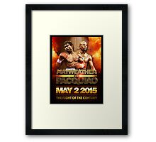 Floyd Mayweather VS Manny Pacquiao May 2nd 2015 shirt, poster and more Framed Print