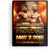 Floyd Mayweather VS Manny Pacquiao May 2nd 2015 shirt, poster and more Metal Print