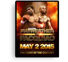 Floyd Mayweather VS Manny Pacquiao May 2nd 2015 shirt, poster and more Canvas Print