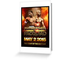 Floyd Mayweather VS Manny Pacquiao May 2nd 2015 shirt, poster and more Greeting Card
