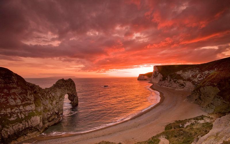 185 Million Year Old Sunset - The Jurassic Coast World Heritage Site Series  by LeeMartinImages
