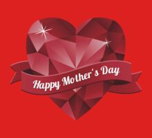 Happy Mother's Day heart pattern Kids Clothes