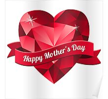 Happy Mother's Day heart pattern Poster