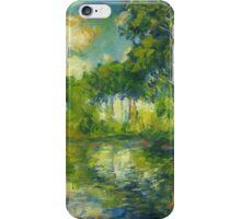Claude Monet. Poplars on the Epte (author's copy) iPhone Case/Skin