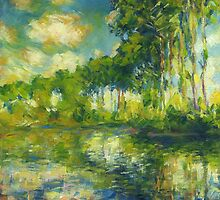 Claude Monet. Poplars on the Epte (author's copy) by tensil