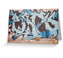 Alphabet Graffiti Greeting Card