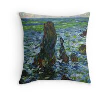 Claude Monet. Sea in Belle-Ile (author's copy) Throw Pillow