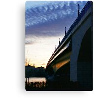 Twilight Bridge Canvas Print