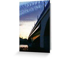 Twilight Bridge Greeting Card