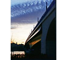 Twilight Bridge Photographic Print