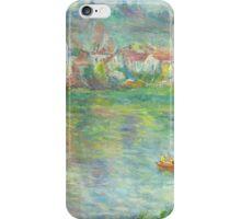 Claude Monet Vétheuil Town (author's copy) iPhone Case/Skin