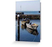 Waterfront Boats Greeting Card