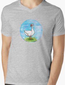 Suspicious Goose Mens V-Neck T-Shirt