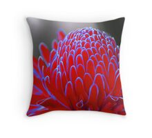 Neon Red Ginger Torch Throw Pillow
