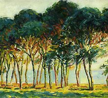 Claude Monet Pines under the sun (author's copy) by tensil