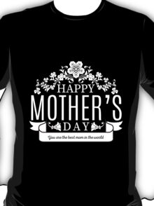 Happy Mother's Day black v T-Shirt