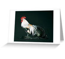 Golden Phoenix Cock Greeting Card