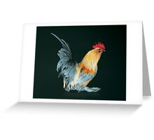 Porcelain Belgian d'Uccle Cock Greeting Card