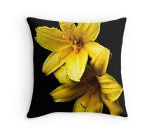 Flower Pair Throw Pillow
