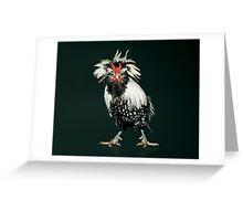 Bearded Silver Lace Polish Bantam Greeting Card