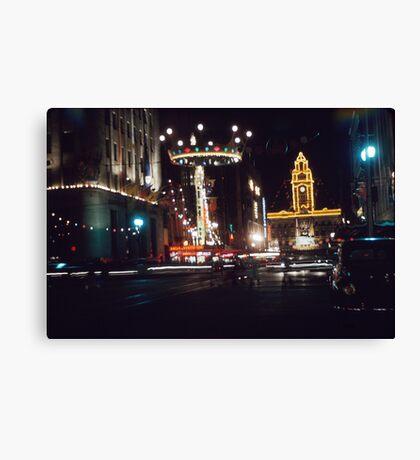 Elizabeth Street night - 1954 Canvas Print