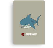 Love Great white Canvas Print