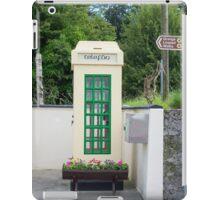 old irish telephone kiosk iPad Case/Skin