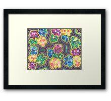 Flower Frenzy Framed Print