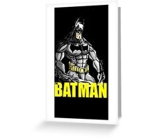 The Batman (With Text) Greeting Card
