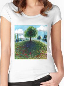 Hilltop Tree Women's Fitted Scoop T-Shirt