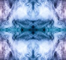 Blue and purple abstract heavenly clouds pattern by PLdesign