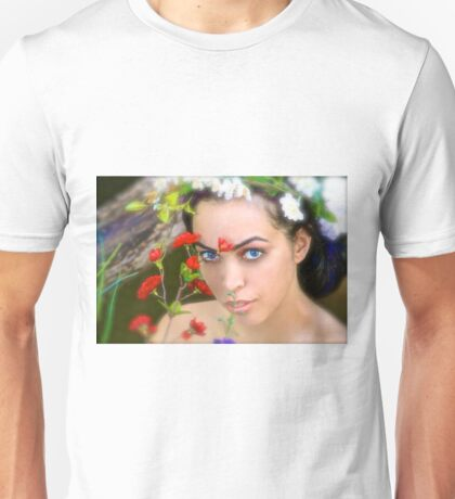 Flowers in Her Hair, Flowers Everywhere Unisex T-Shirt