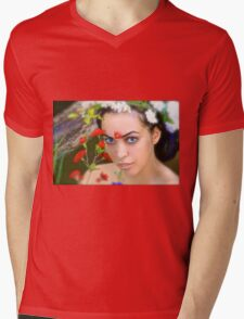 Flowers in Her Hair, Flowers Everywhere Mens V-Neck T-Shirt