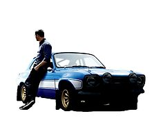 Paul walker and car by Morgan Green