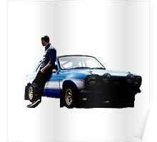 Paul walker and car Poster