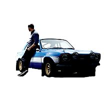 Paul walker and car Photographic Print