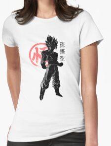 crimson goku Womens Fitted T-Shirt