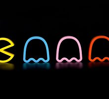 Pac-man - Rainbow by ghoststorm