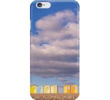 Pretty pastel beach huts at Seaford iPhone Case/Skin