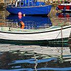 Lyme Regis Harbour Reflections - April by Susie Peek