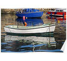 Lyme Regis Harbour Reflections - April Poster