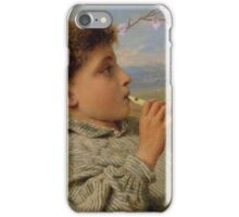 Sophie Anderson - Shepherd's Pipes, Capri 1880 iPhone Case/Skin
