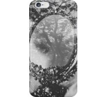 mirror and tree double exposure iPhone Case/Skin